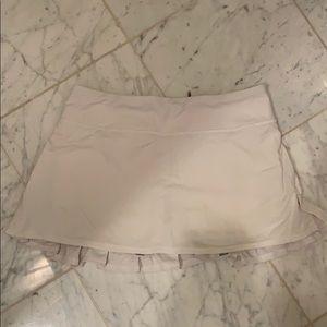 Lululemon Tennis Golf Ruffle Skirt White 6 🥰